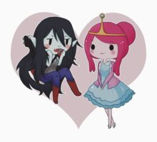 Marceline and Princess Bubblegum - Adventure Time One Piece - Short Sleeve