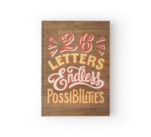 26 Letters Endless Possibilities Hardcover Journal