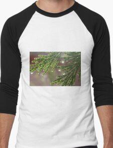 Water Droplets Men's Baseball ¾ T-Shirt