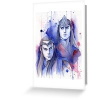 Elrond and Elros Greeting Card
