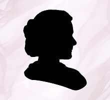Marie Curie Silhouette  by aubergdesigns