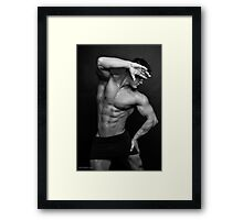 Drawing The Line Framed Print