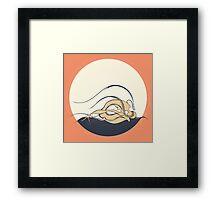Moon girl Framed Print