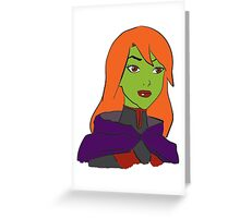 DC's Miss Martian from Young Justice Greeting Card