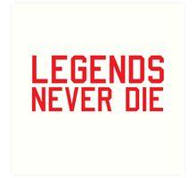 Legends Never Die Art Print