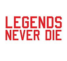 Legends Never Die Photographic Print