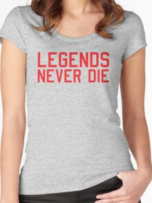 Legends Never Die Women's Fitted Scoop T-Shirt