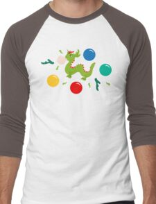 Dragon Bubblegum Pattern Men's Baseball ¾ T-Shirt