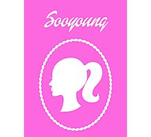 Girls Generation (SNSD) Sooyoung Barbie Design Photographic Print