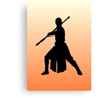 Rey - Fighting Stance Silhouette Canvas Print