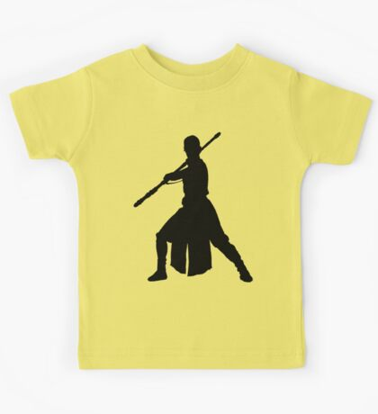 Rey - Fighting Stance Silhouette Kids Tee