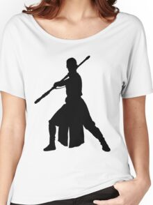 Rey - Fighting Stance Silhouette Women's Relaxed Fit T-Shirt