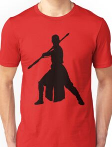 Rey - Fighting Stance Silhouette Unisex T-Shirt