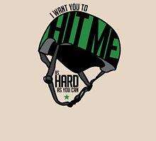 "Roller Derby ""Hit Me"" Helmet - Green Women's Relaxed Fit T-Shirt"