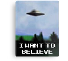 X Files 8bit Metal Print