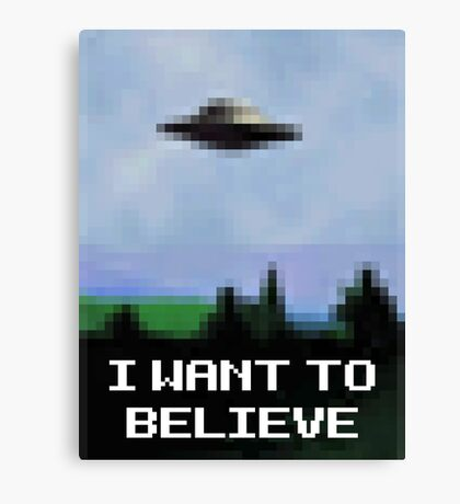 X Files 8bit Canvas Print