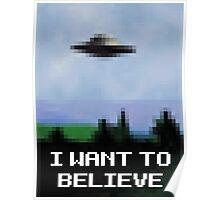 X Files 8bit Poster