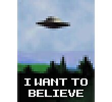 X Files 8bit Photographic Print