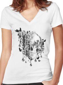 Melt down Women's Fitted V-Neck T-Shirt