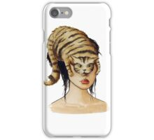 Catling - Watercolor portrait on paper iPhone Case/Skin