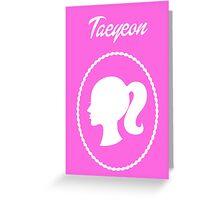Girls Generation (SNSD) Taeyeon Barbie Design Greeting Card