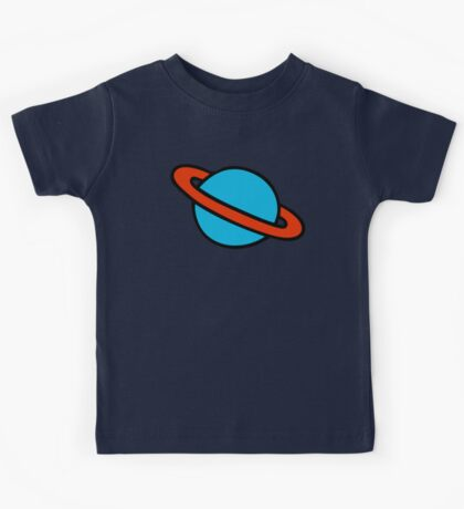 Space Planets Pattern Kids Tee