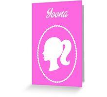 Girls Generation (SNSD) Yoona Barbie Design Greeting Card