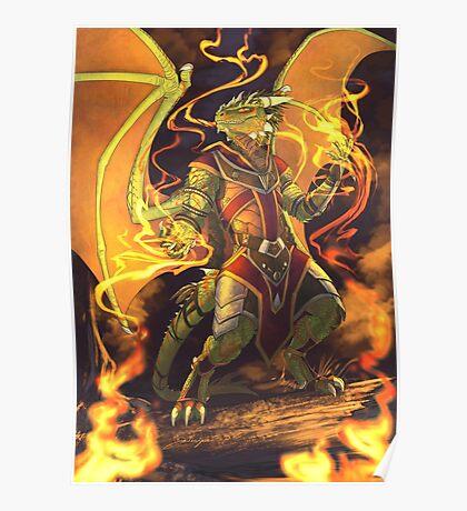 Argonian Flames Poster