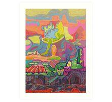 Circus Landscape Art Print
