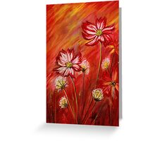 Flowers at sunset Greeting Card