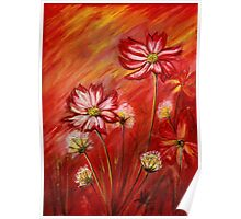 Flowers at sunset Poster