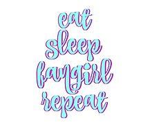 Eat Sleep Fangirl Repeat Photographic Print