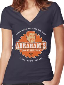 Abraham's Construction Women's Fitted V-Neck T-Shirt