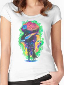The Universe is a Crazy Chaotic place Morty Women's Fitted Scoop T-Shirt