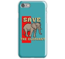 SAVE THE ELEPHANT-3 iPhone Case/Skin