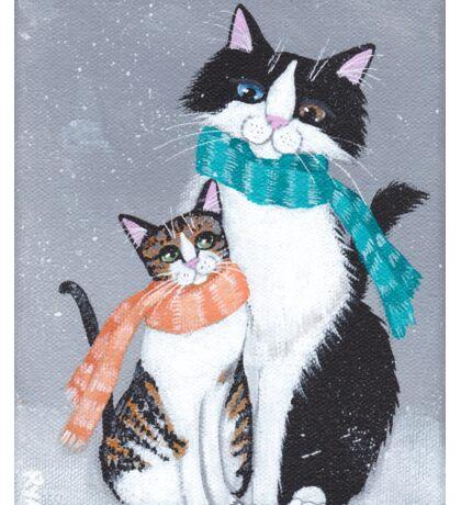 I'll Keep You Warm Cats Sticker
