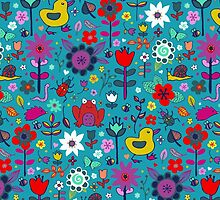 Ducks and Frogs in the Garden by Cecca-Designs