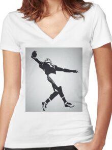 The Catch - Odell Beckham Jr Women's Fitted V-Neck T-Shirt