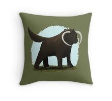 Wookie Dog Throw Pillow