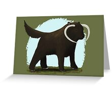 Wookie Dog Greeting Card