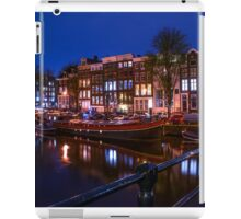 Night Lights on the Amsterdam Canals. Holland iPad Case/Skin