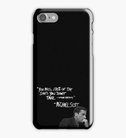 Michael Scott's Inspirational Quote (Black) iPhone Case/Skin