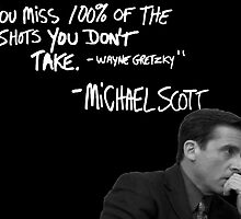 Michael Scott's Inspirational Quote (Black) by Baskervillain