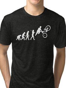 Evolution Freestyle MTB Jump Bike by Stencil8 Tri-blend T-Shirt
