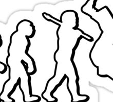 Evolution Judo Throw by Stencil8 Sticker