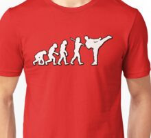 Evolution Martial Arts Kick by Stencil8 Unisex T-Shirt