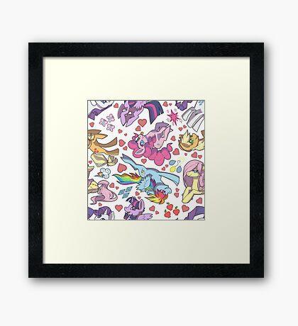 My Little Pony - Tile Framed Print