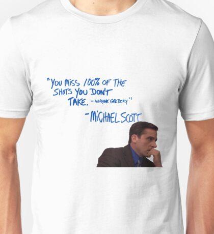 Michael Scott's Inspirational Quote (Colour) Unisex T-Shirt