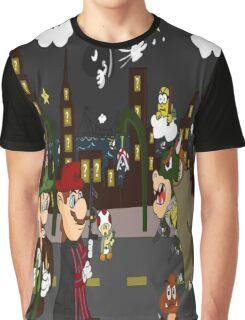 Mario Mafia (Night Time Version) Graphic T-Shirt