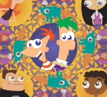 Phineas and Ferb Mandala Sticker